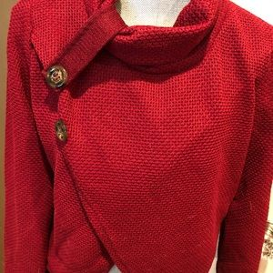 New red sweater large